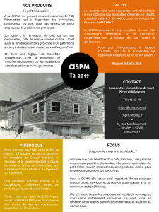 Newsletter CISPM T2 2019