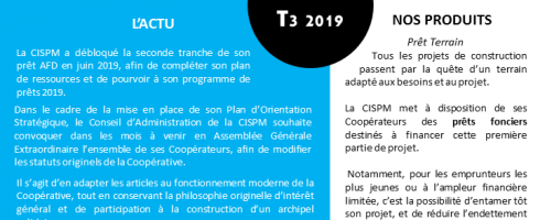 CISPM, la Lettre : T3 2019