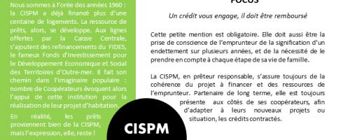 CISPM, la Lettre : T4 2019